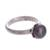 Cultured pearl cocktail ring, 'Black Nascent Flower' - Cultured Pearl Cocktail Ring in Black from Peru (image 2c) thumbail
