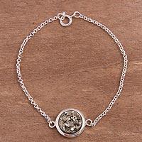 Pyrite pendant bracelet, 'Circular Treasure' (Peru)