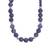 Sodalite beaded necklace, 'Falling Water' - Handcrafted Sodalite and Sterling Silver Bead Necklace (image 2a) thumbail