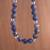 Sodalite beaded necklace, 'Falling Water' - Handcrafted Sodalite and Sterling Silver Bead Necklace (image 2b) thumbail