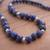 Sodalite beaded necklace, 'Falling Water' - Handcrafted Sodalite and Sterling Silver Bead Necklace (image 2c) thumbail