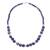 Sodalite beaded necklace, 'Falling Water' - Handcrafted Sodalite and Sterling Silver Bead Necklace (image 2d) thumbail