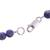 Sodalite beaded necklace, 'Falling Water' - Handcrafted Sodalite and Sterling Silver Bead Necklace (image 2e) thumbail