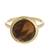 Gold plated tiger's eye single stone ring, 'Magic Pulse' - Gold-Plated Tiger's Eye Single Stone Ring from Peru (image 2a) thumbail