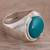 Chrysocolla cocktail ring, 'Serene Allure' - Sterling Silver and Chrysocolla Cocktail Ring from Peru (image 2b) thumbail
