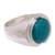 Chrysocolla cocktail ring, 'Serene Allure' - Sterling Silver and Chrysocolla Cocktail Ring from Peru (image 2c) thumbail