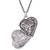 Sterling silver filigree locket necklace, 'Romantic Finesse' - Sterling Silver Filigree Heart Locket Necklace from Peru (image 2d) thumbail
