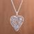 Sterling silver filigree locket necklace, 'Shining Finesse' - Sterling Silver Heart Shaped Filigree Locket Necklace thumbail