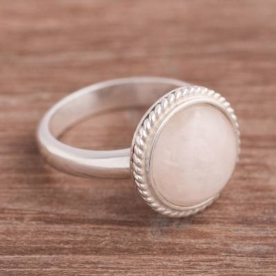 Agate Single Stone Cocktail Ring Crafted in Peru