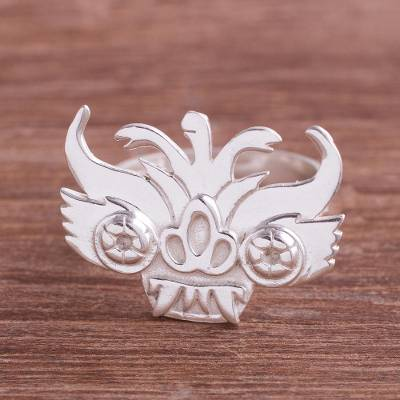 Sterling Silver Cultural Cocktail Ring from Peru
