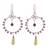 Peridot and garnet dangle earrings, 'Gleaming Festival' - Peridot and Garnet Dangle Earrings from Peru (image 2a) thumbail