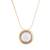 Gold plated quartz pendant necklace, 'Golden Circle' - 18k Gold Plated Quartz Pendant Necklace from Peru (image 2a) thumbail