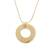 Gold plated quartz pendant necklace, 'Golden Circle' - 18k Gold Plated Quartz Pendant Necklace from Peru (image 2c) thumbail