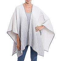 Featured review for Reversible alpaca blend ruana, Andean Wind in White