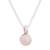 Cultured pearl pendant necklace, 'Peach Bloom' - Peach Cultured Pearl and Sterling Silver Pendant Necklace (image 2a) thumbail