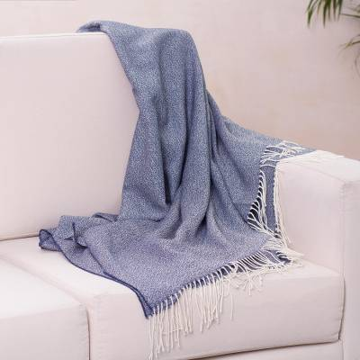 100% baby alpaca throw, Indigo Love