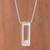 Cultured pearl pendant necklace, 'Beautiful Rectangle' - Rectangular Cultured Pearl Pendant Necklace from Peru thumbail