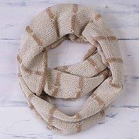 100% baby alpaca reversible infinity scarf,