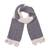 100% alpaca scarf, 'Sunbeam Through the Clouds' - Hand Knit Smoke Grey and Cream 100% Alpaca Textured Scarf (image 2a) thumbail