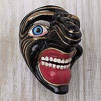 Resin mini mask, 'Big Grin' - Resin Character Mini Mask From Dance Black Qhapaq from Peru