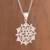 Sterling silver filigree pendant necklace, 'Gleaming Mandala' - Sterling Silver Filigree Mandala Pendant Necklace from Peru thumbail