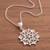 Sterling silver filigree pendant necklace, 'Gleaming Mandala' - Sterling Silver Filigree Mandala Pendant Necklace from Peru (image 2b) thumbail