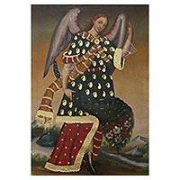 'Archangel Saint Gabriel' - Colonial Replica Painting of the Archangel Saint Gabriel