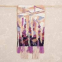 Wool tapestry, 'Huagapo Grotto' - Handwoven Abstract Wool Tapestry from Peru