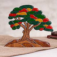 Wood sculpture, 'Autumn Tree' - Wood Sculpture of a Tree in Autumn from Peru
