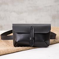 Leather waist bag,