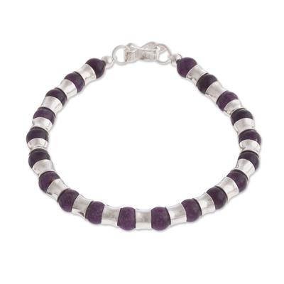 Amethyst Beaded Bracelet Crafted in Peru