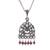 Garnet pendant necklace, 'Vintage Floral Window' - Floral Garnet Pendant Necklace from Peru (image 2a) thumbail