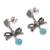 Amazonite dangle earrings, 'Heart Bows' - Heart-Shaped Amazonite Dangle Earrings from Peru (image 2c) thumbail