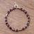 Garnet beaded bracelet, 'Gemstone Rhombi' - Natural Garnet Beaded Bracelet from Peru thumbail