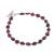 Garnet beaded bracelet, 'Gemstone Rhombi' - Natural Garnet Beaded Bracelet from Peru (image 2a) thumbail