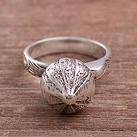 Sterling silver cocktail ring, 'Mythic Onion' - Sterling Silver Onion Cocktail Ring from Peru