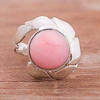 Rose quartz cocktail ring, 'Astral Canopy' - Natural Rose Quartz Cocktail Ring from Peru