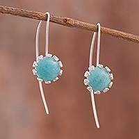 Amazonite filigree drop earrings,