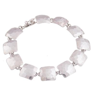 Modern Sterling Silver Link Bracelet from Peru