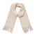 100% alpaca scarf, 'Andean Delight in Bone' - 100% Alpaca Wrap Scarf in Solid Bone from Peru (image 2a) thumbail