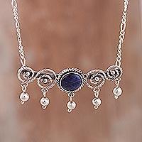 Sodalite pendant necklace,