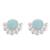 Opal button earrings, 'Bauble Delight' - Round Opal Button Earrings Crafted in Peru (image 2a) thumbail