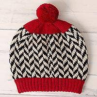 100% alpaca knit hat,