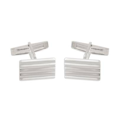 Rectangular Sterling Silver Cufflinks from Peru