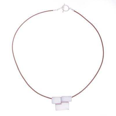 Modern Quartz Pendant Necklace from Peru