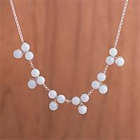 Quartz waterfall necklace, 'Celestial Beads' - Natural Quartz Waterfall Necklace from Peru
