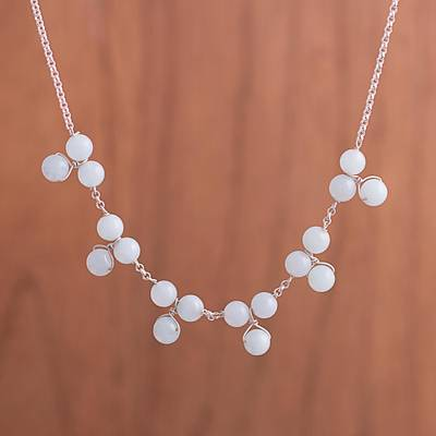 Quartz waterfall necklace, Celestial Beads