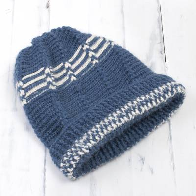 100% alpaca hat, Azure Winter