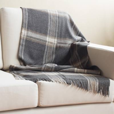 100% baby alpaca throw, 'Sweet Comfort' - 100% Baby Alpaca Throw in Graphite from Peru