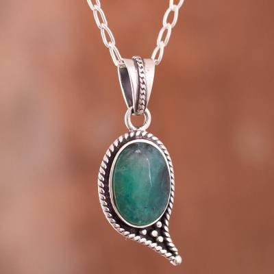 Opal pendant necklace, Mystery of the Oval